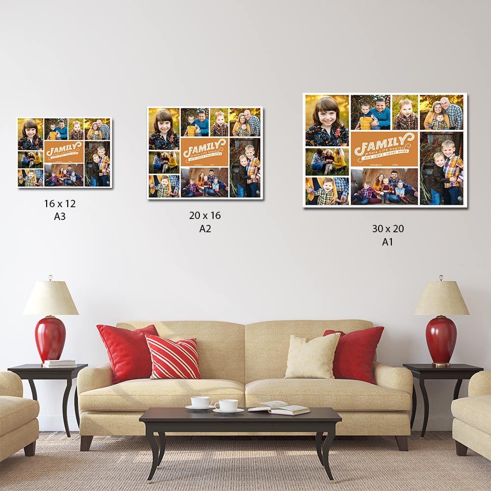 Where Life Begins Family Montage On Canvas