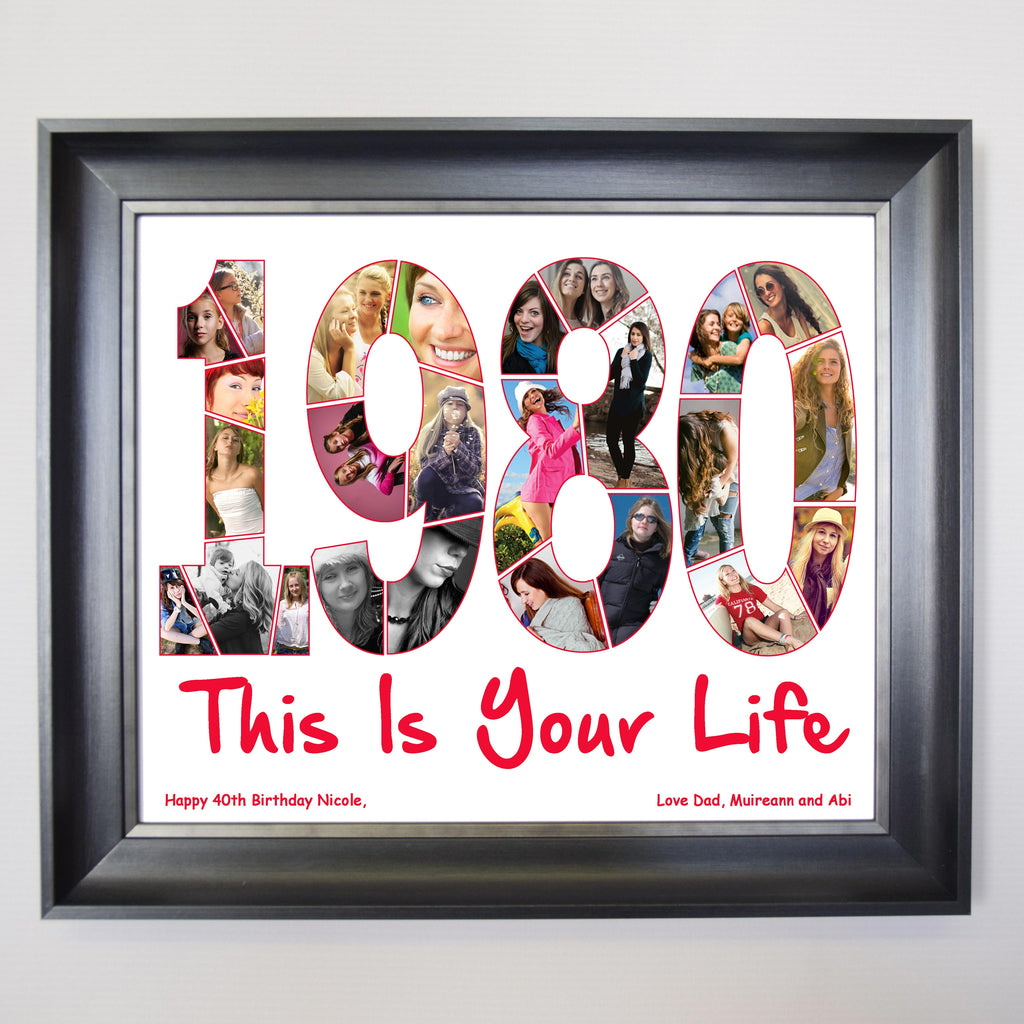 Year Your Where Born Framed Photo Collage