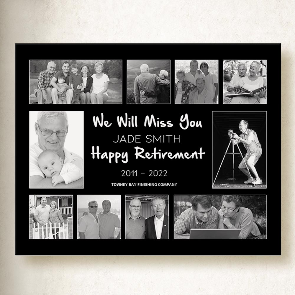 Your Retirement Story Collage On Canvas