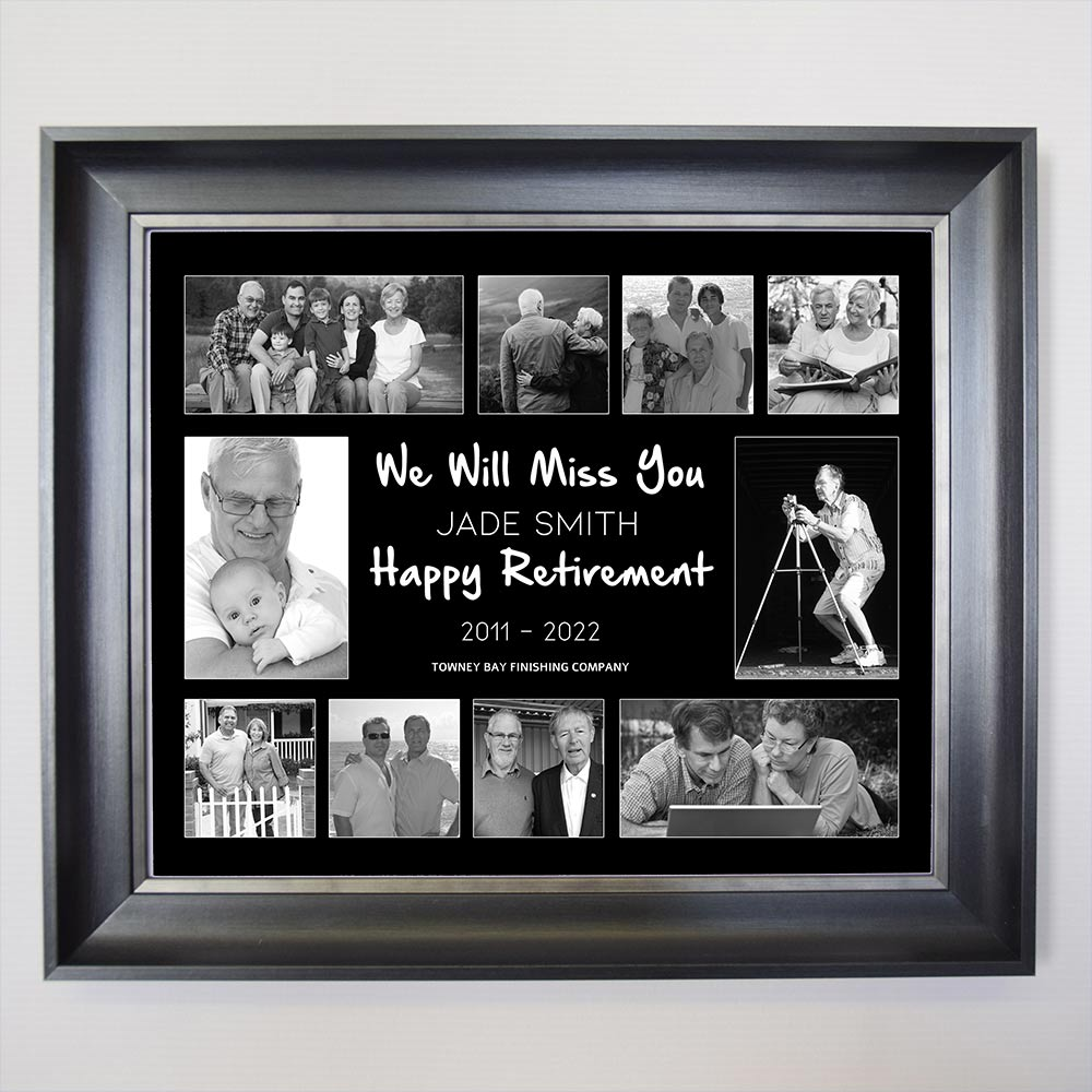 Your Retirement Story Framed Photo Collage
