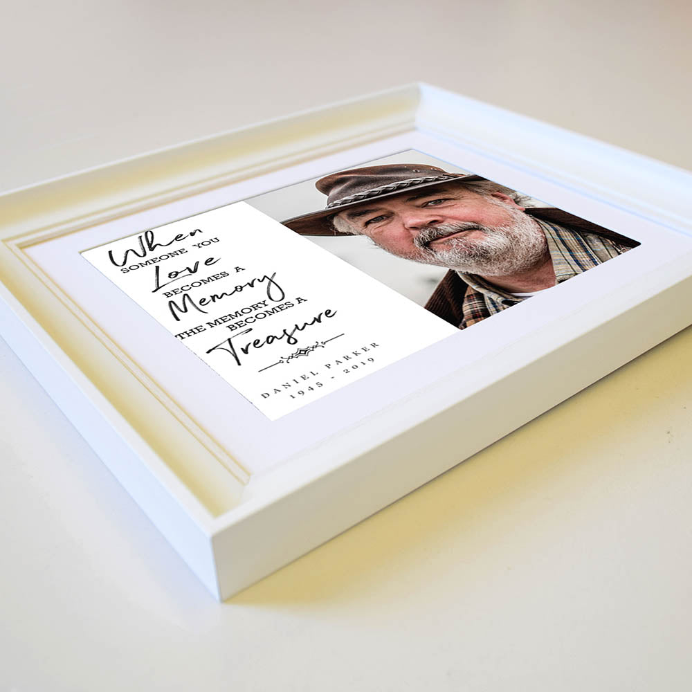 Your Memory Is Our Treasure Framed Memorial