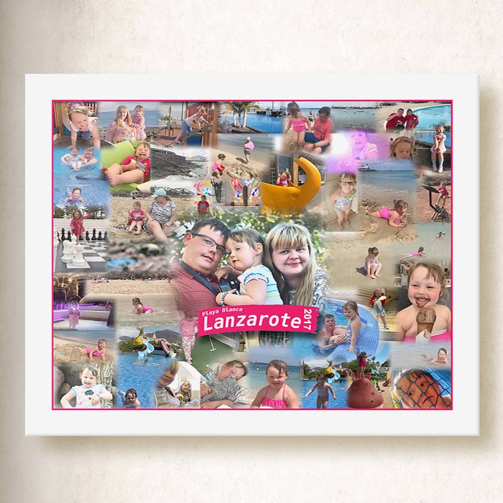 Fun Abroad Framed Collage On Canvas