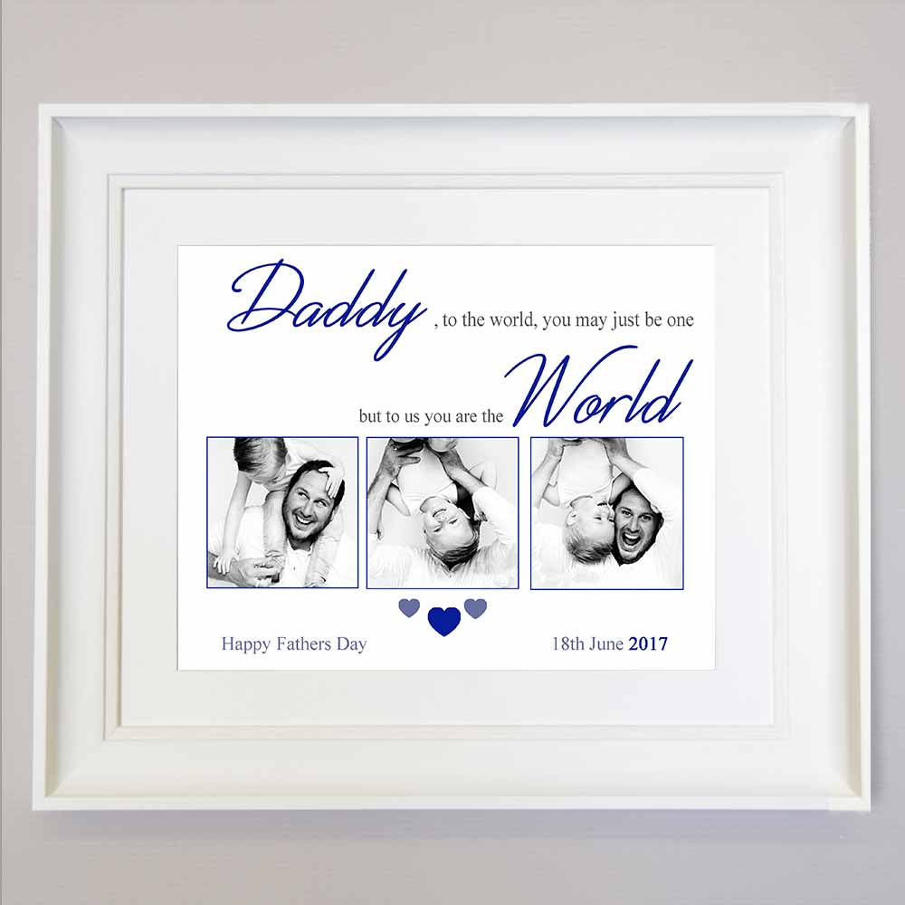 Father To The World You Are One Sentiment Gift Frame - Do More With Your Pictures