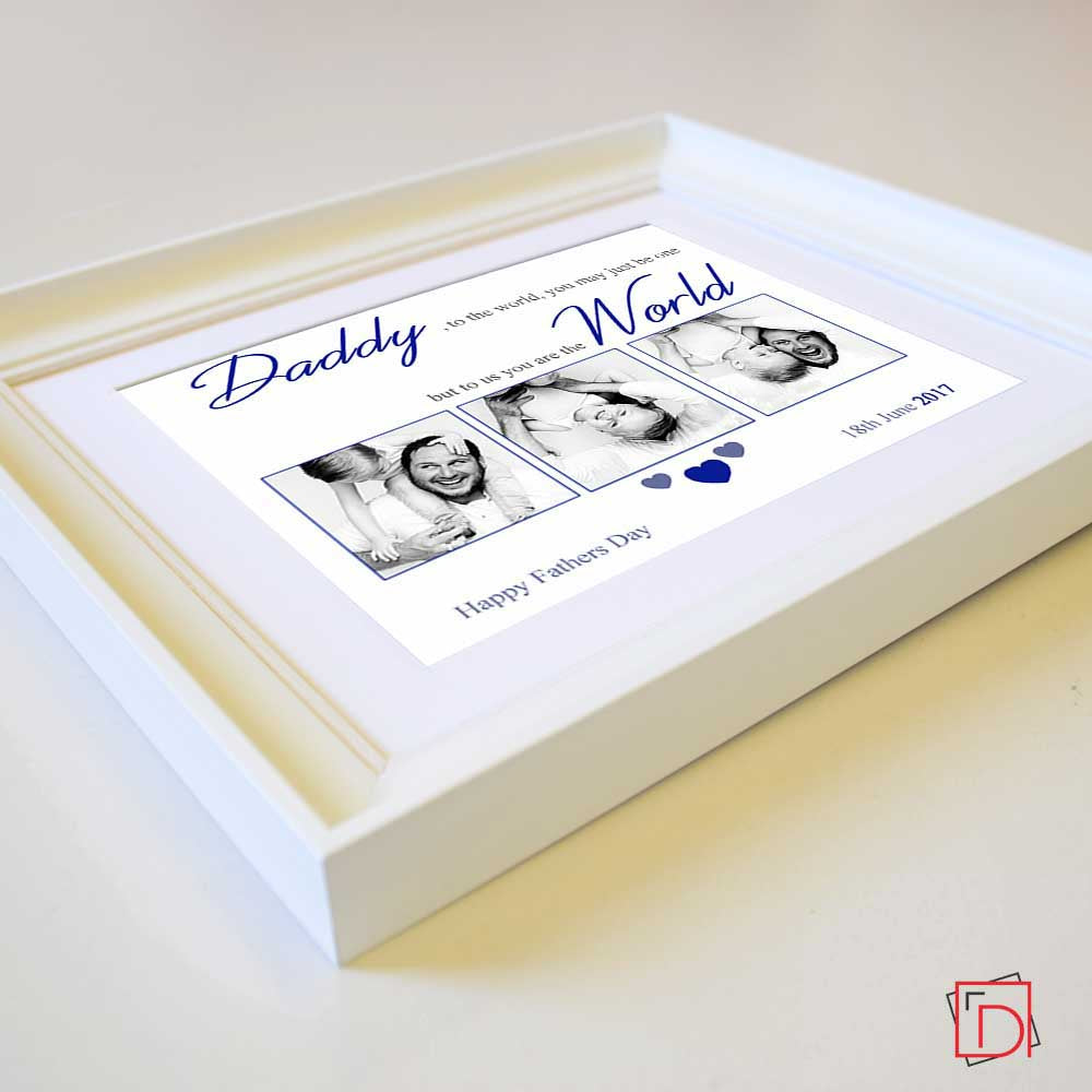 Father To The World You Are One Sentiment Gift Frame