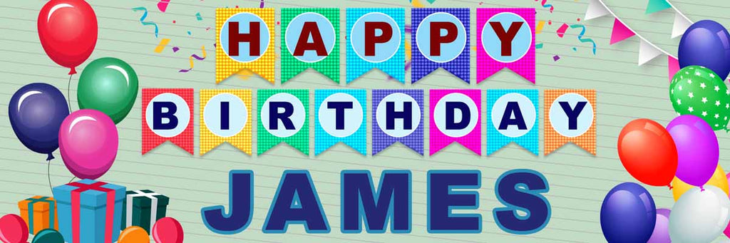Just Birthday Personalised Banner