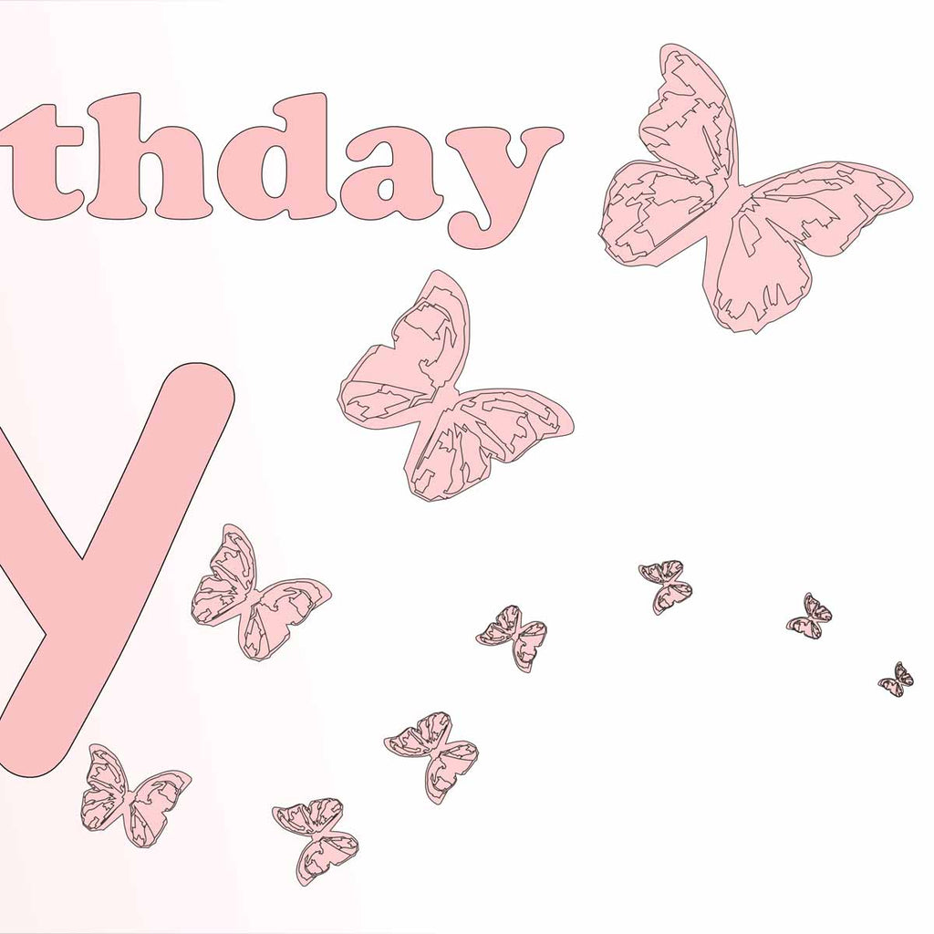 Butterfly Birthday Party Personalised Photo Banner