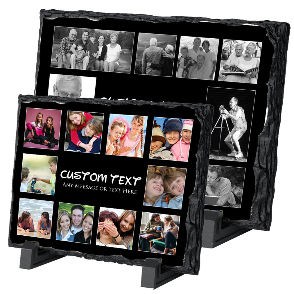 Custom Photo Collage On Slate