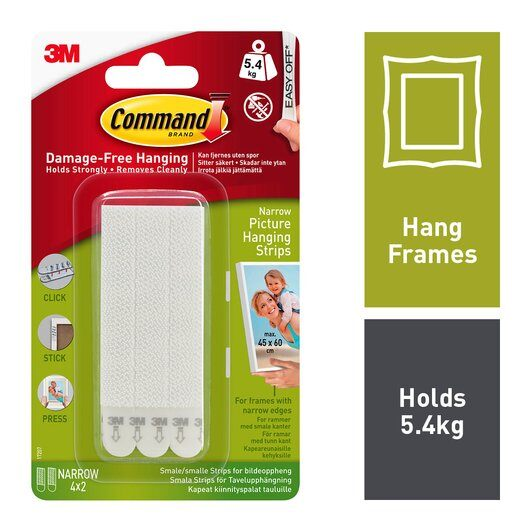 Command™ Narrow Picture Frame Hanging Strips