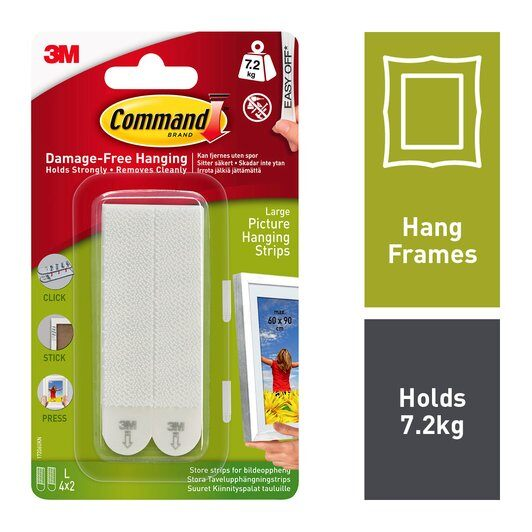 Command™ Large Picture Frame Hanging Strips