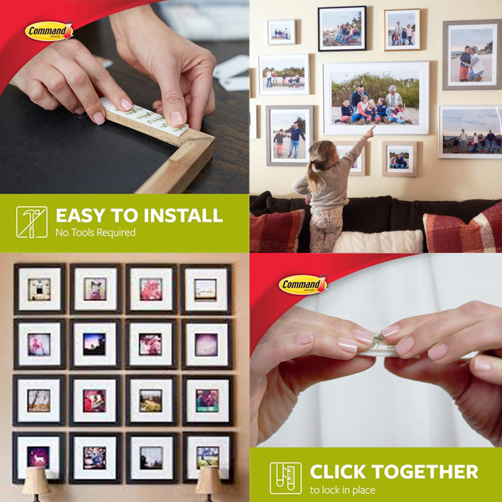 Command™ Picture Frame Hanging Strips Small Medium Value Pack