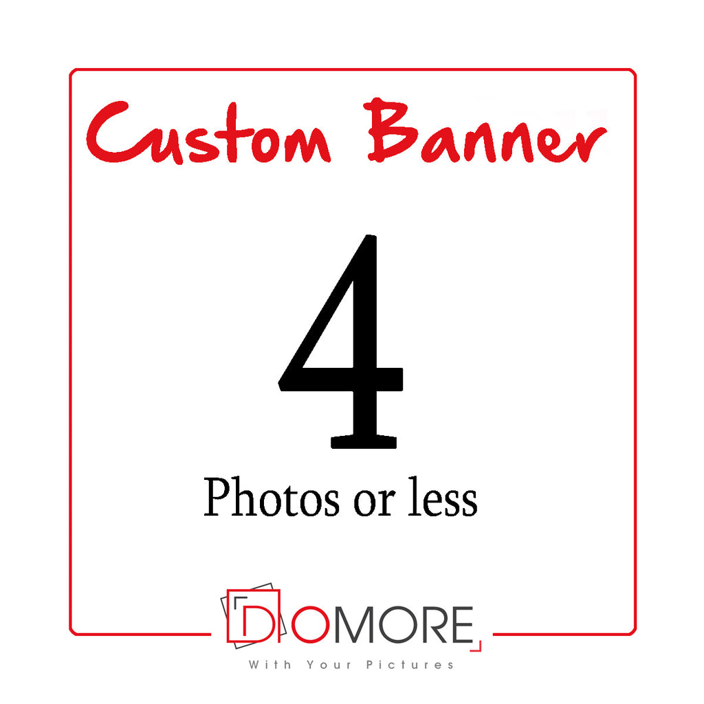 Custom Personalised Banner With 4 Photos