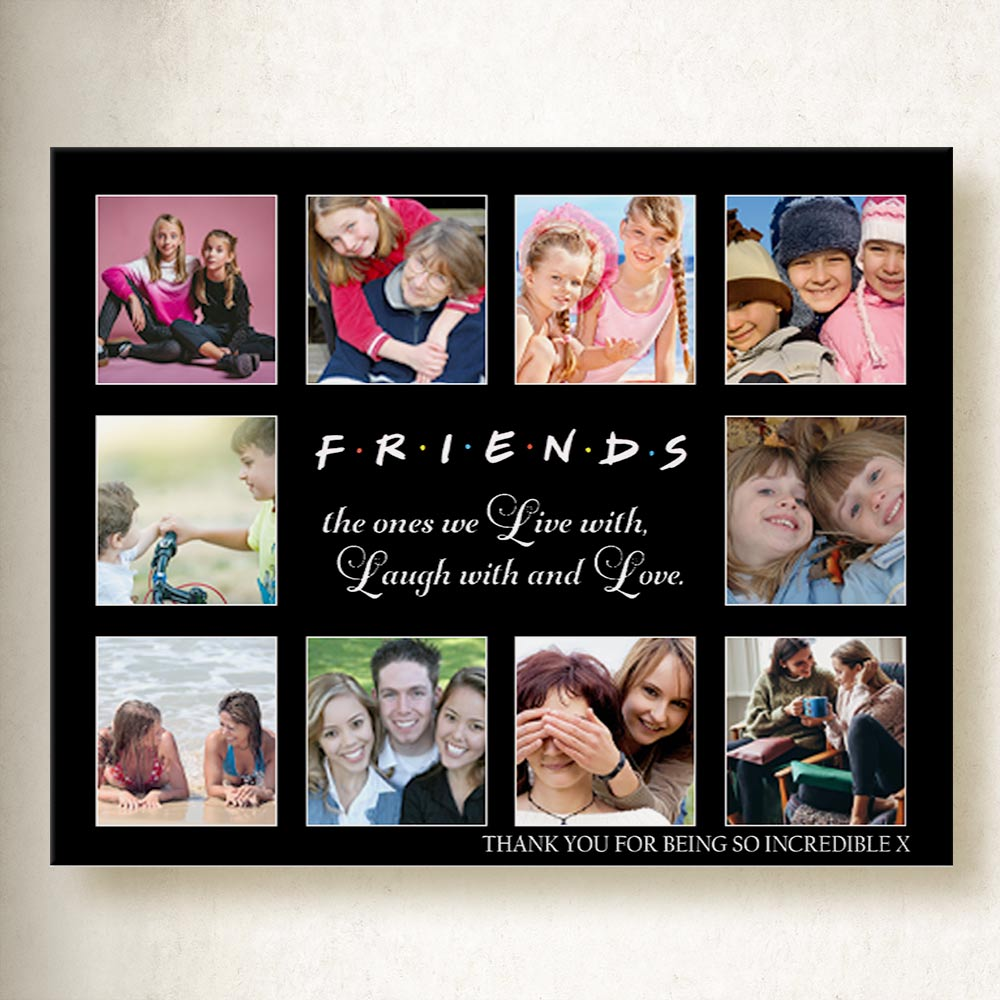 Friends to Love Laugh Love Collage On Canvas