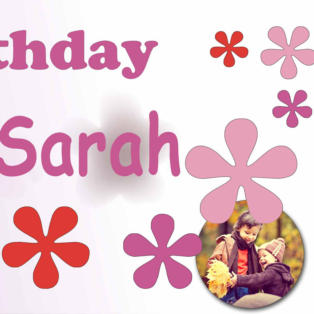 Floral Birthday Party Personalised Photo Banner