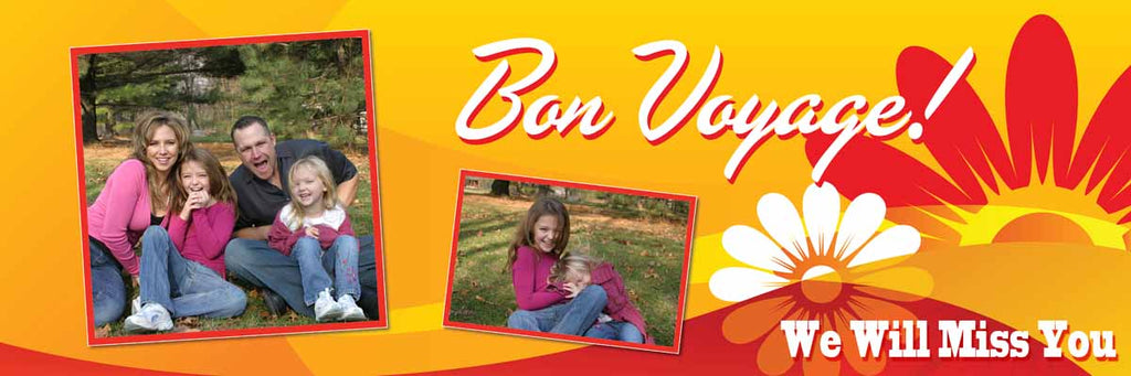 Bon Voyage Leaving Party Personalised Banner