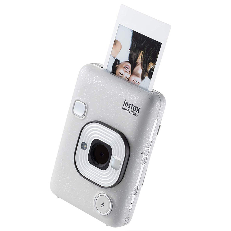 Fujifilm Instax Mini Liplay Instant Camera | Stone White