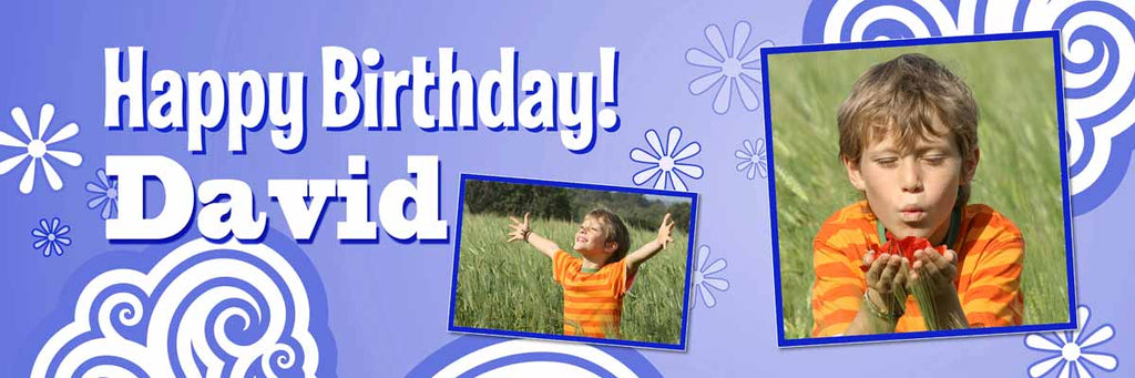 Psychedelic Birthday Party Personalised Photo Banner