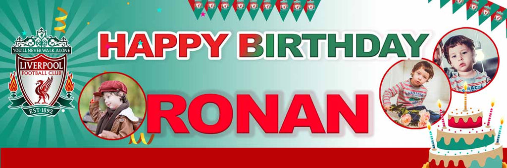 Liverpool FC Birthday Party Personalised Photo Banner