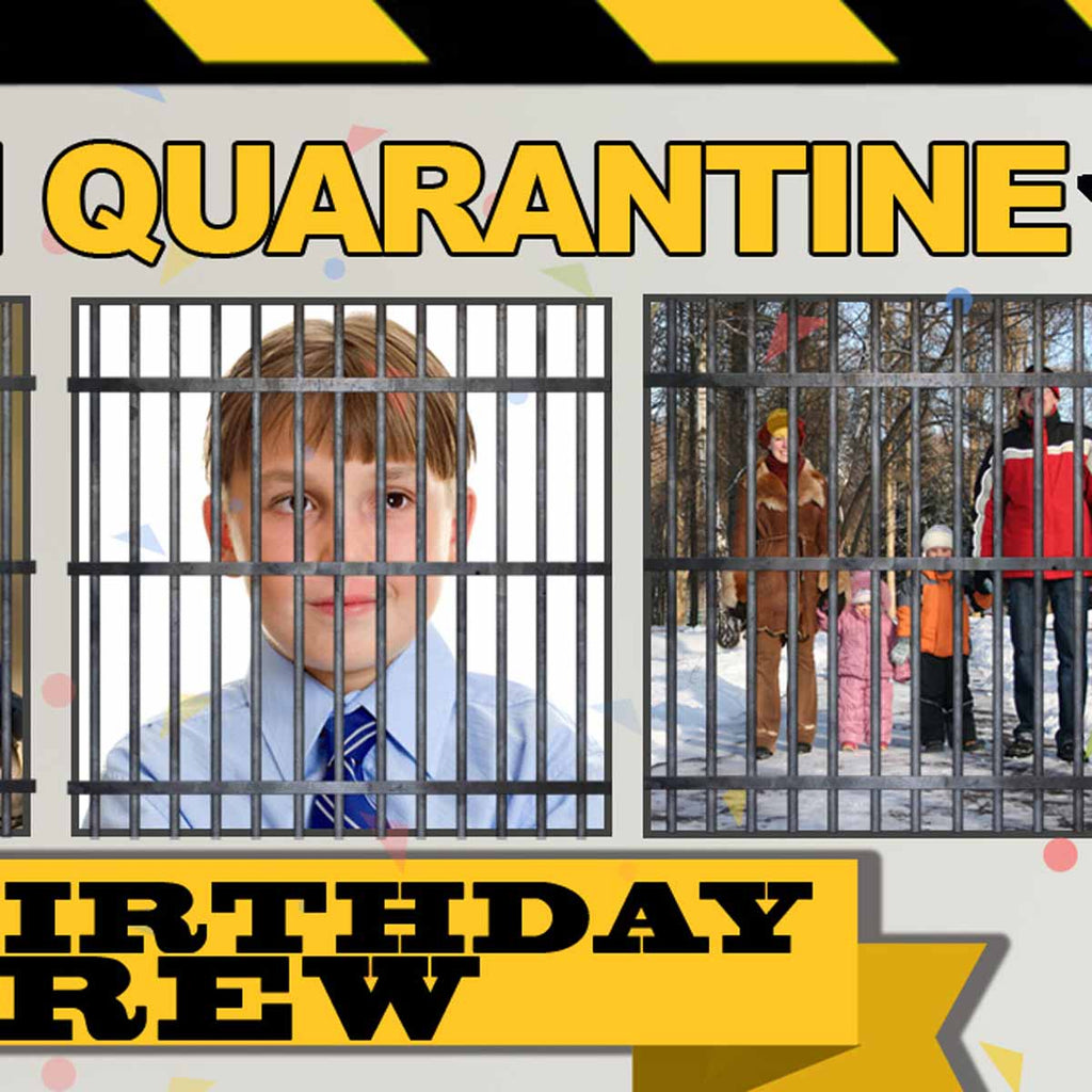 Quarantine Birthday Party In Lockdown Personalised Banner