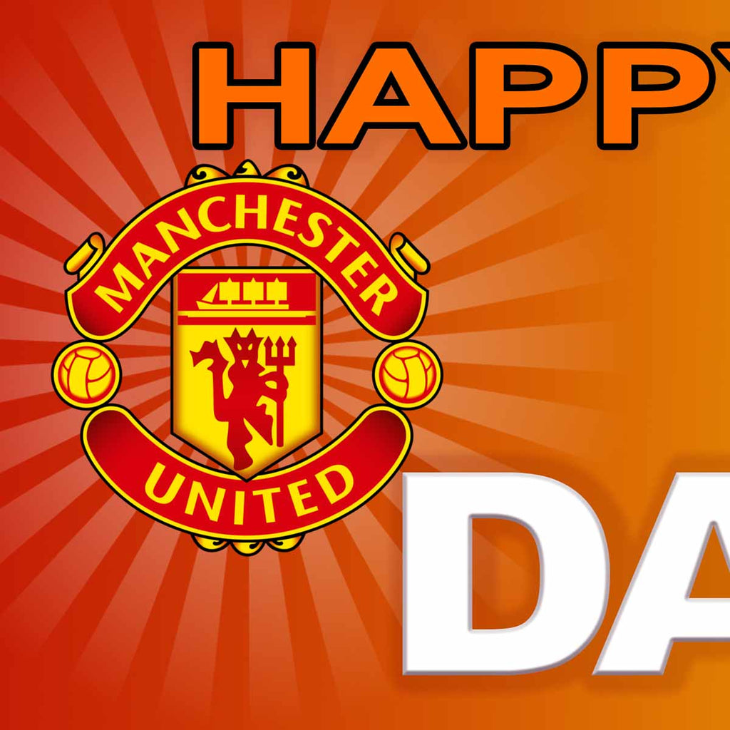 Manchester United FC Birthday Party Personalised Photo Banner