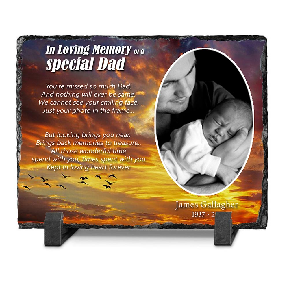 In Loving Memory Of Dad Memorial Slate