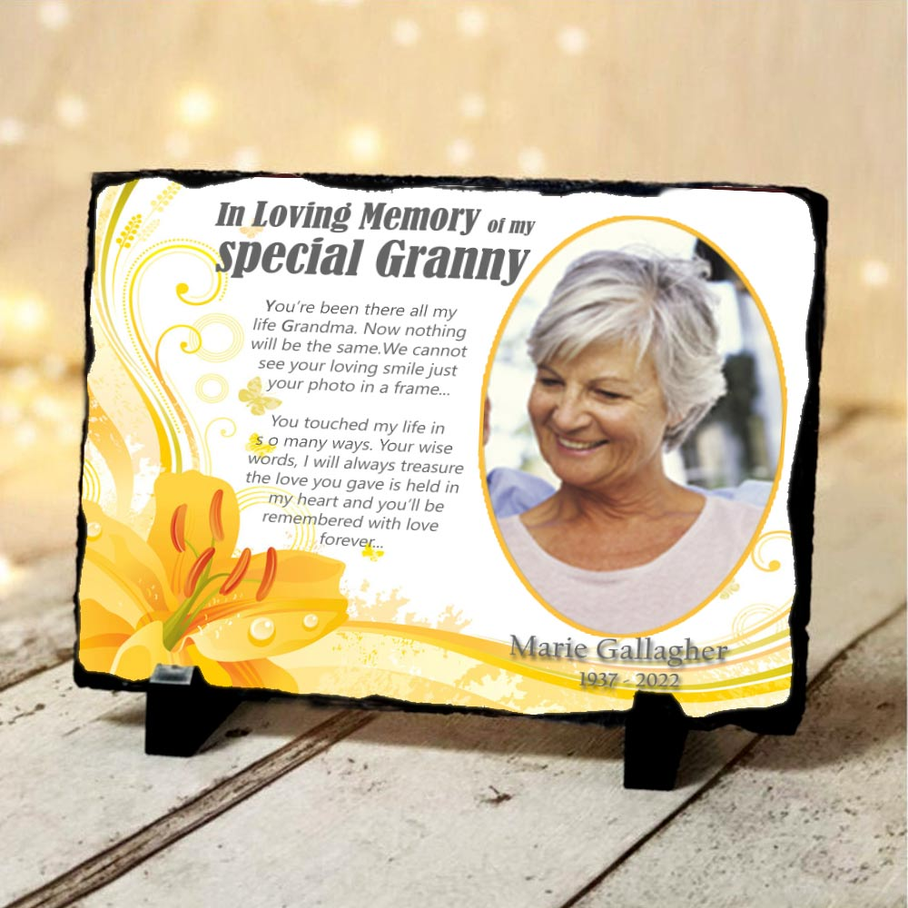 Special Grandmother Memorial Slate