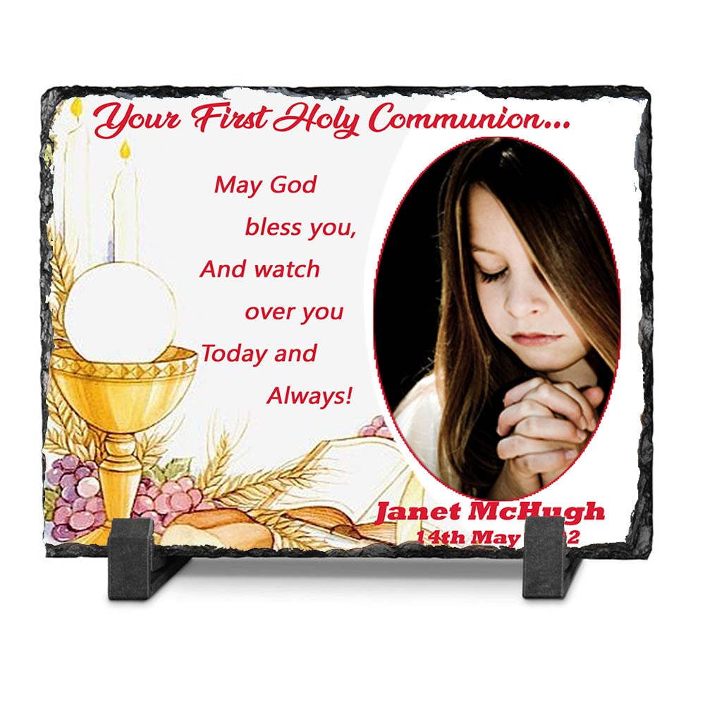 May God Bless You First Holy Communion Slate