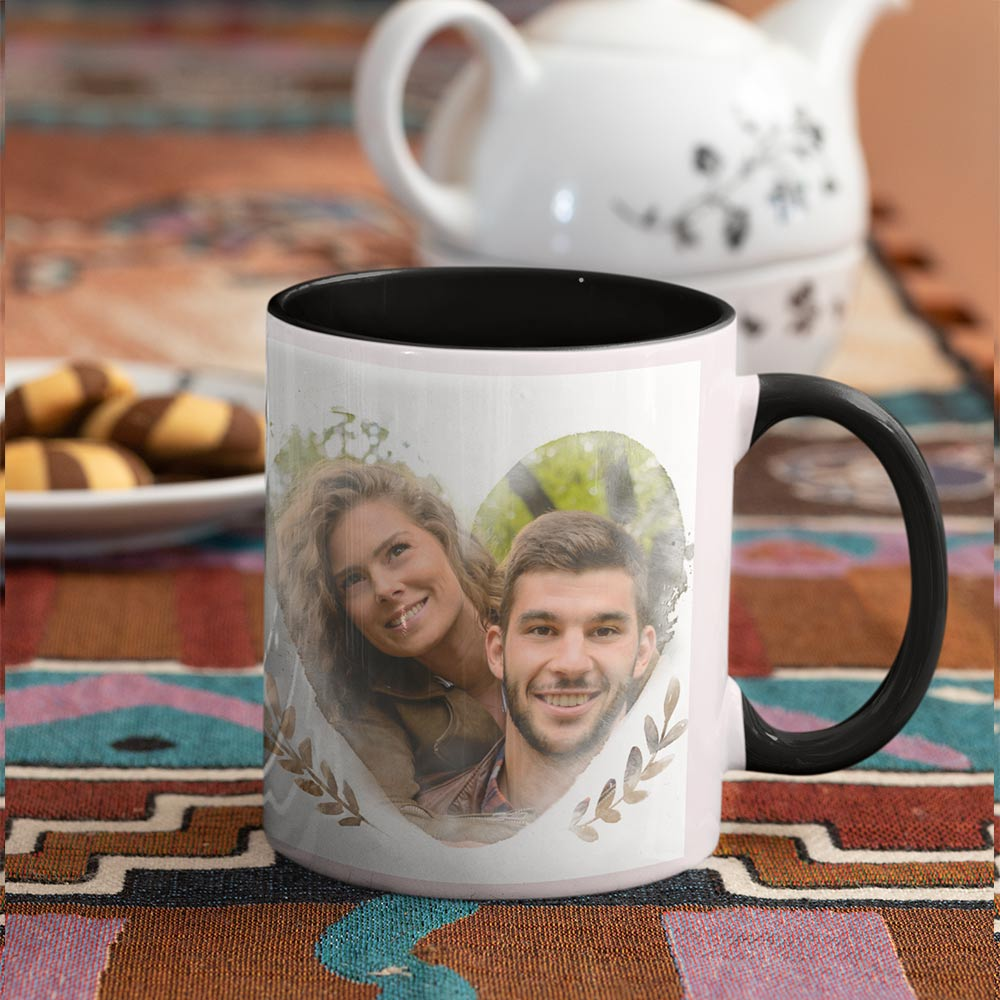 Always And forever Couples Personalised Photo Mug