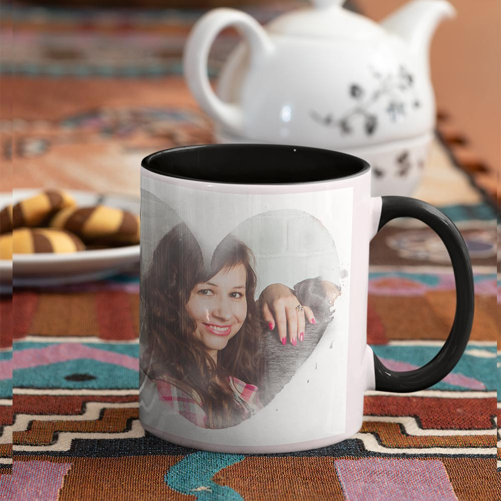 Mr Right & Mrs Always Right Personalised Photo 2 Mug Set