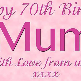 Mums Floral Birthday Party Personalised Photo Banner