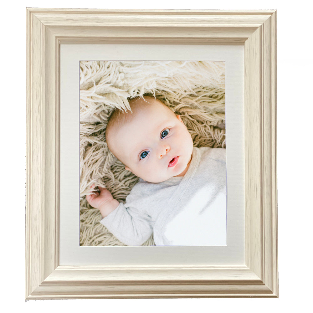 Mounted Atlantic Cream Photo Frame in Various Sizes