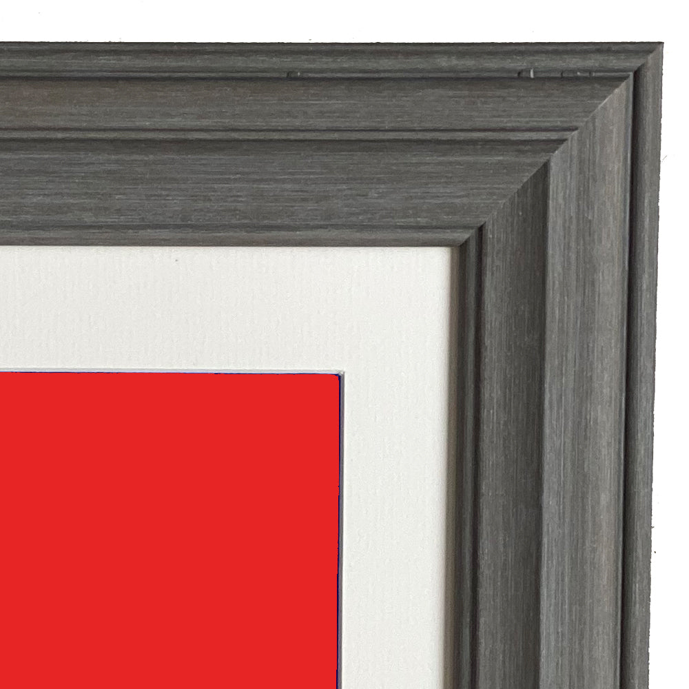 Mounted Atlantic Stone Grey Photo Frame in Various Sizes