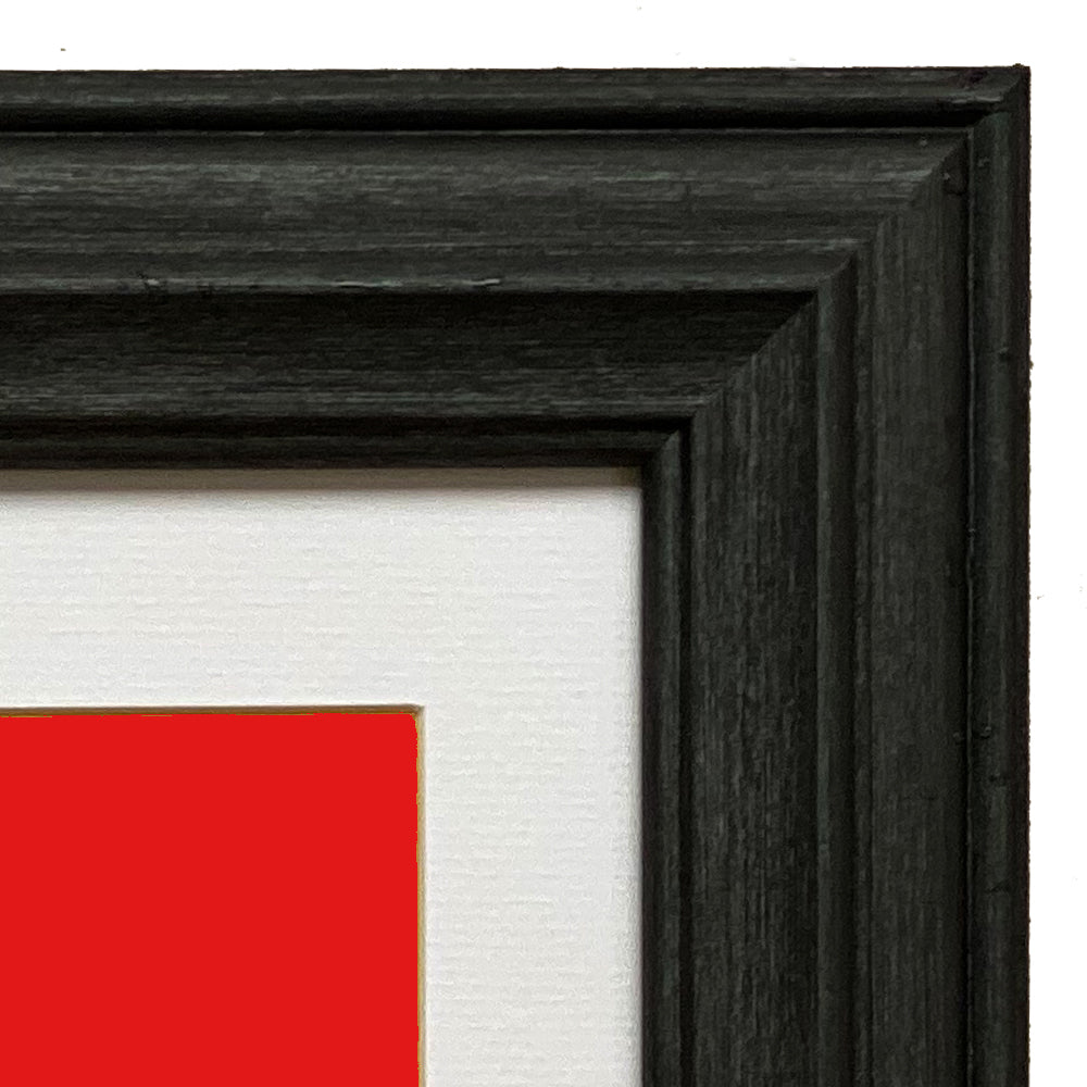 Mounted Atlantic Black Graphite Wooden Photo Frame in Various Sizes