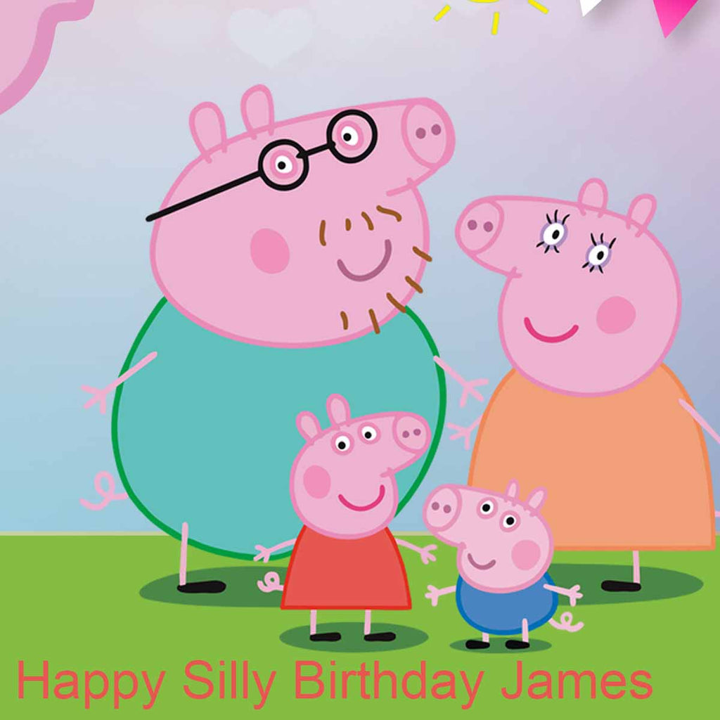 Peppa Pig Birthday Party Personalised Photo Banner