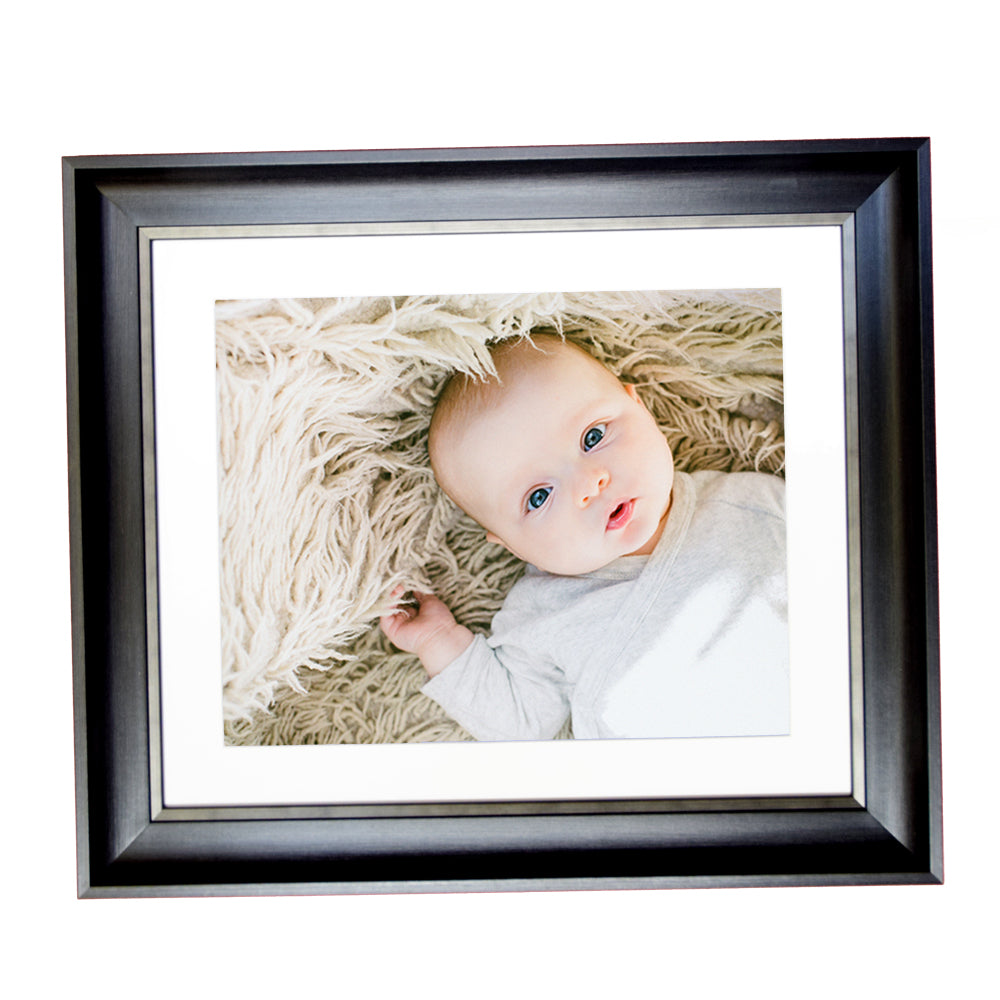 Mounted Elegance Black 10 x 8 Photo Frame