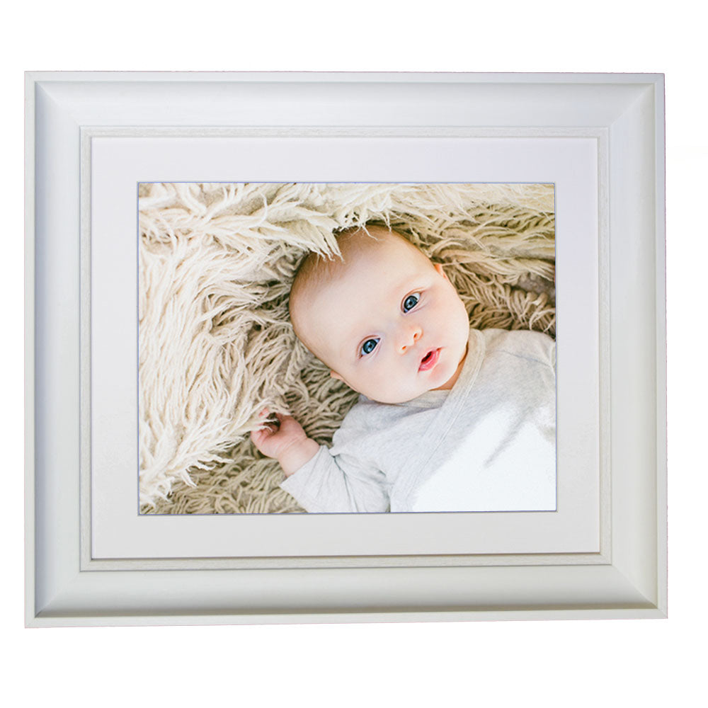 Mounted Elegance White  10X8 Photo Frame