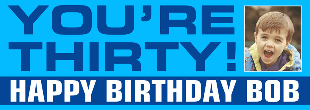 Just Plain Birthday Party Personalised Photo Banner