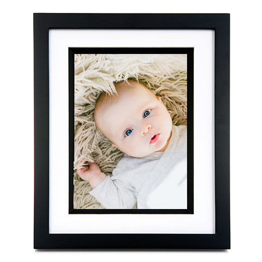 Black Pacific 6 x 8 Photo Frame with White Mount