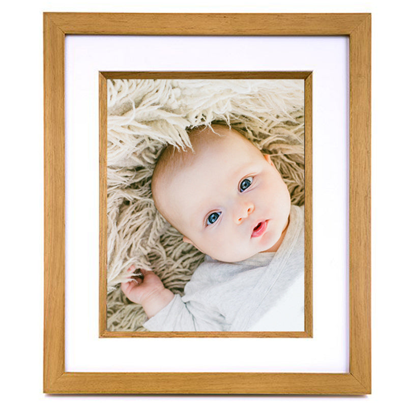 Oak Brown Pacific 8 x 10 Wooden Photo Frame with White Mount