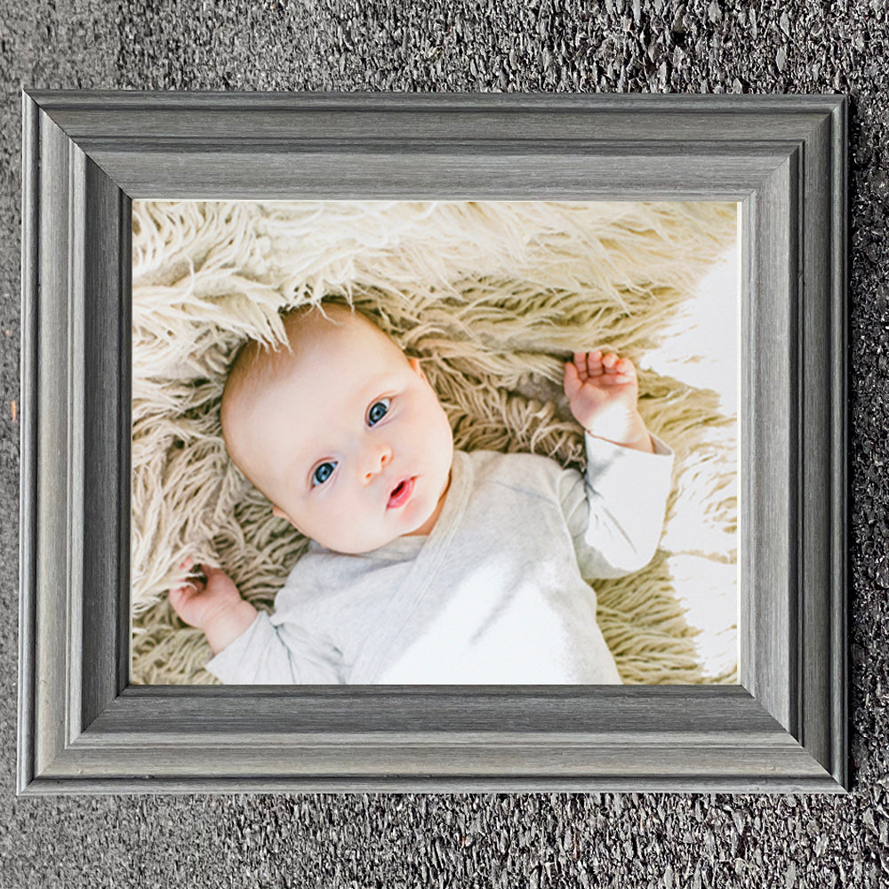 Atlantic Stone Grey Photo Frame in Various Sizes