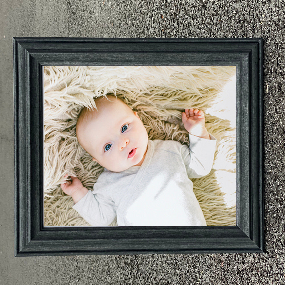 Atlantic Black Graphite Wooden Photo Frame in Various Sizes