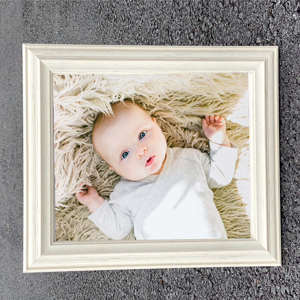 Atlantic Warm White Wooden Photo Frame in Various Sizes