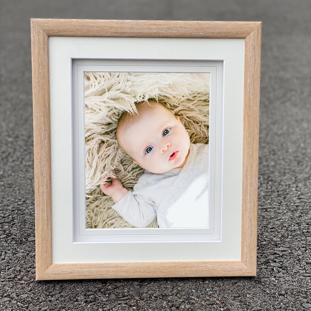 "Alora Tanned Oak 14x12"" frame for 10X8"" Print"