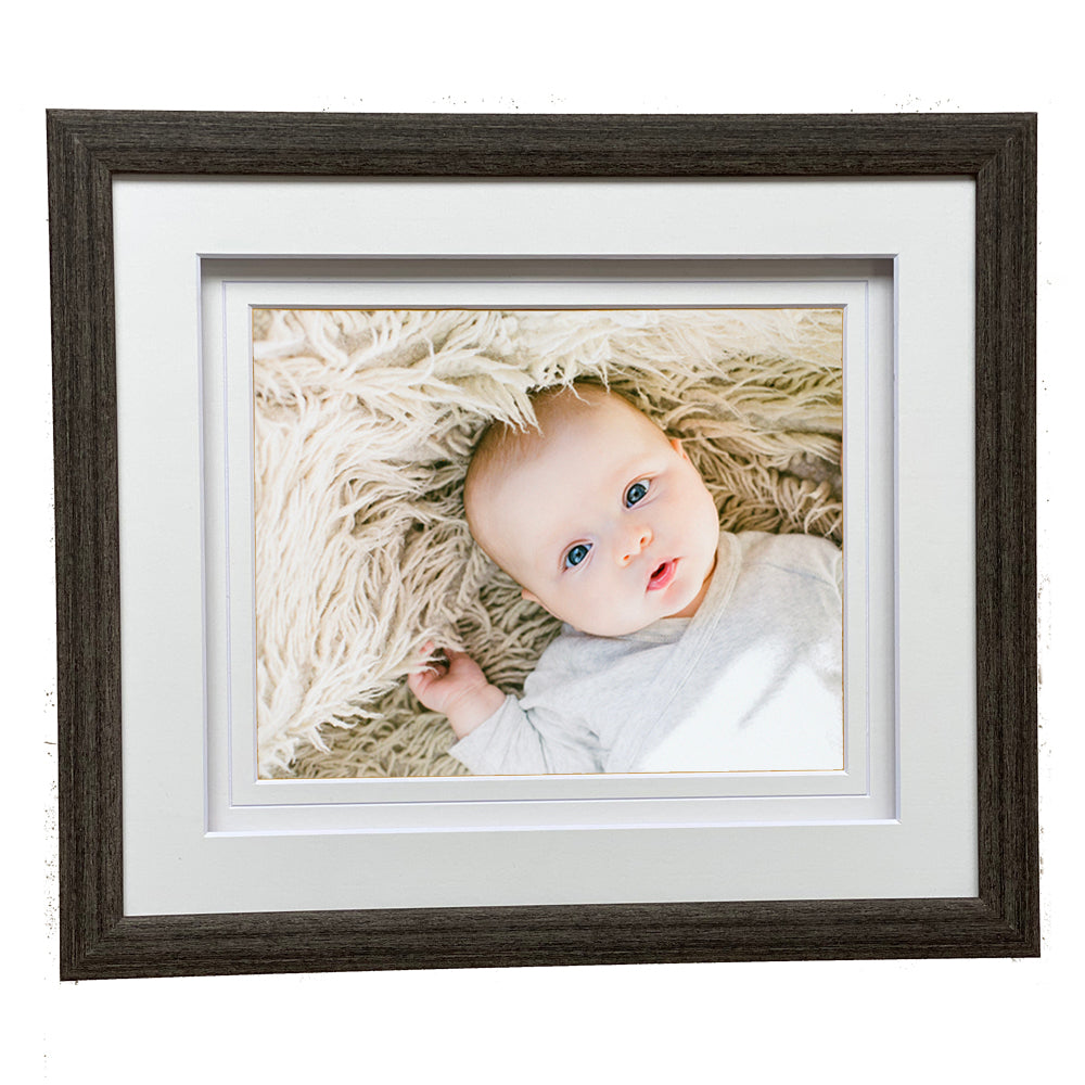 "Alora Stone Grey Wooden 14x12"" Frame for 10X8"" Print"