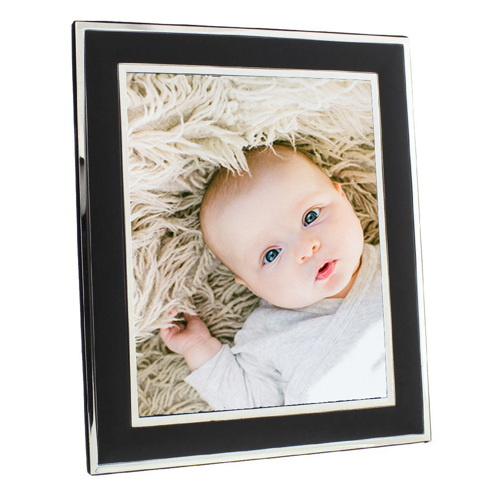 "Silver Malawi Black 8 x 10"" Photo Frame"
