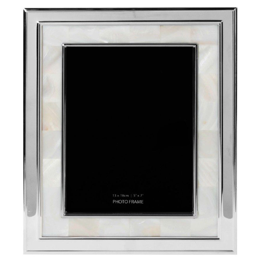 Silver 5 x 7 Mother Of Pearl Photo Frame