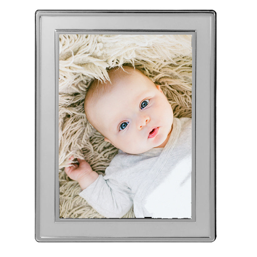 Silver Caspian Matte 5 x 7 Photo Frame