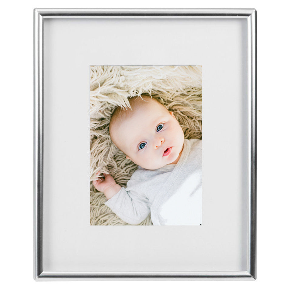 Silver Pichola 5 x 7 Photo Frame with White Mount
