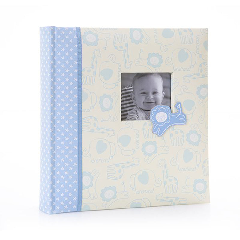 "Baby Animals 200 Photos 6x4"" Blue Memo Photo Album"