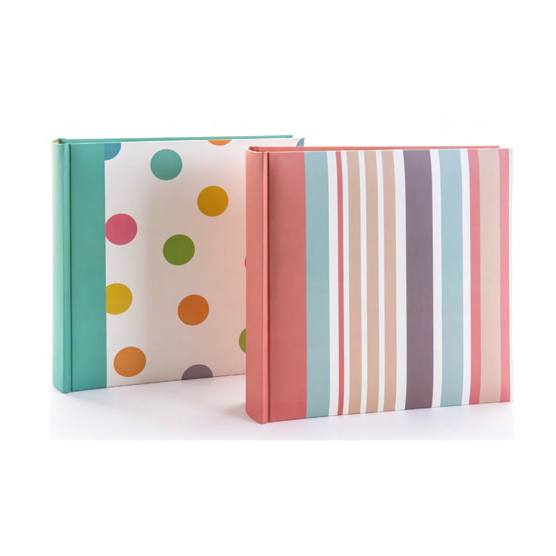 "Kenro Candy Series 200 Photos 6x4"" Memo Photo Album Stripes"
