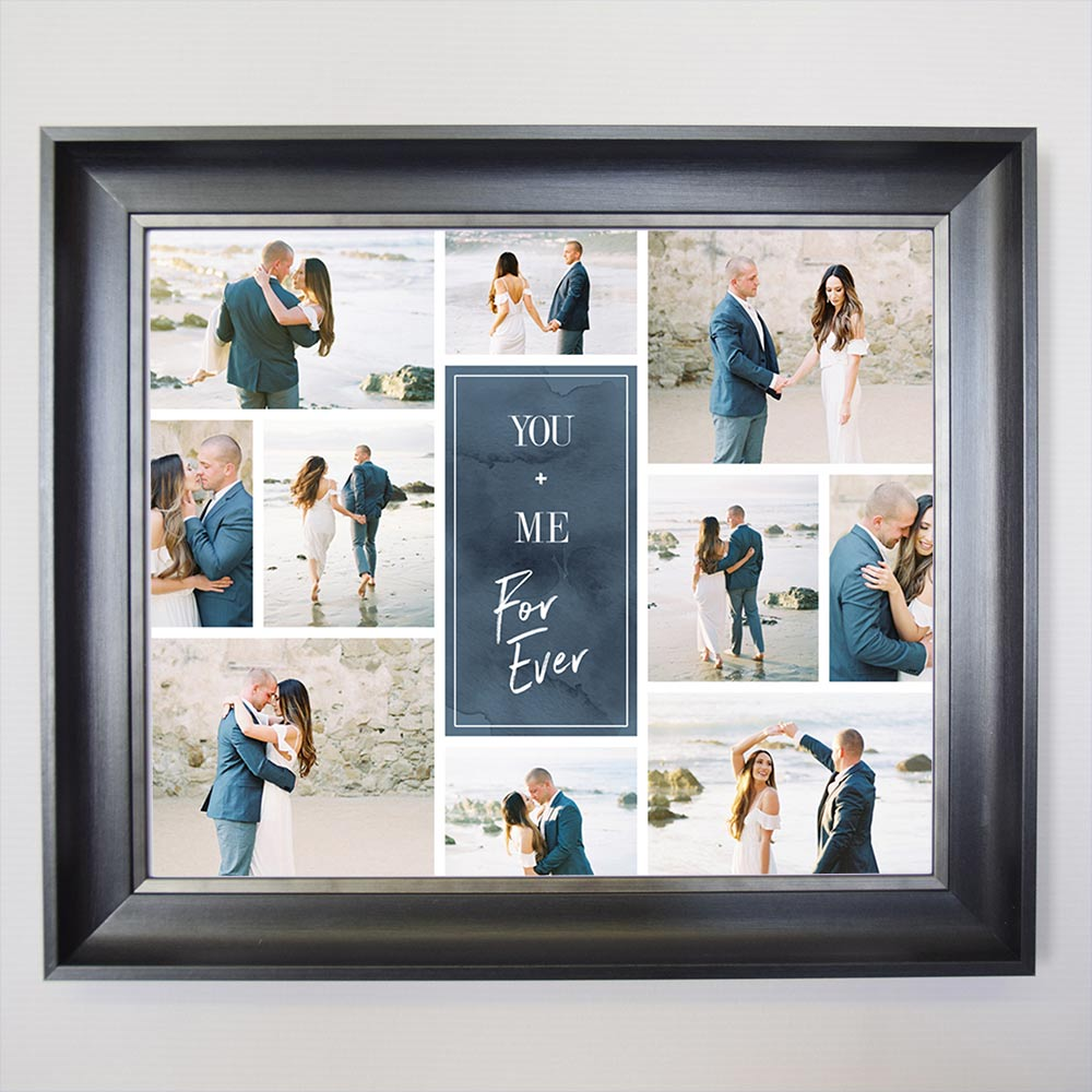Your Forever Framed Wedding Photo Collage